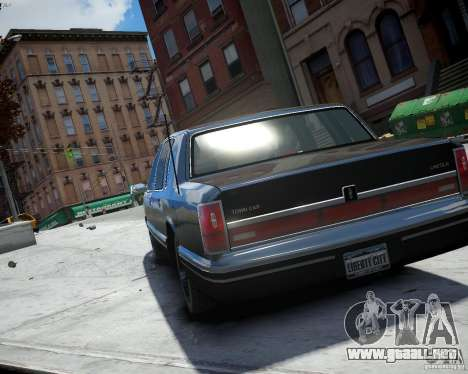 Lincoln Towncar 1991 para GTA 4 left
