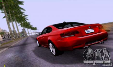 BMW M3 E92 v1.0 para GTA San Andreas left