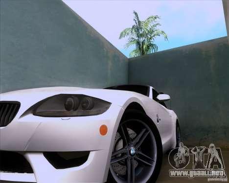 BMW Z4 M Coupe para GTA San Andreas vista hacia atrás