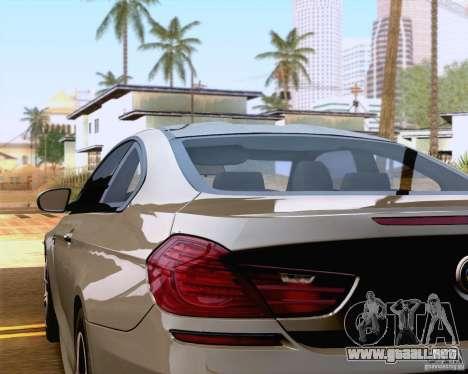 BMW M6 2013 para visión interna GTA San Andreas
