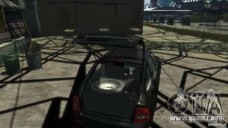 LADA Priora 2172 Suite para GTA 4 vista hacia atrás