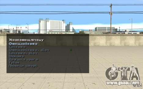 Las características del juego para GTA San Andreas tercera pantalla