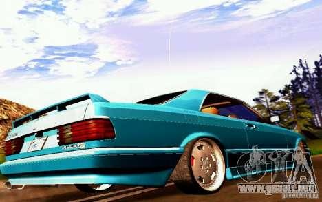Mercedes-Benz 560 Sec AMG para la visión correcta GTA San Andreas