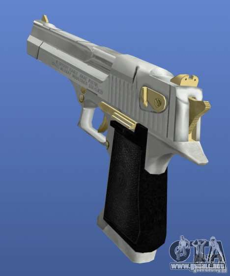 Desert Eagle Retex 1.2 Chrome and Gold para GTA 4