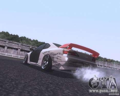 Nissan Silvia S15 Street para GTA San Andreas vista posterior izquierda