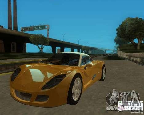 Ginetta F400 para la visión correcta GTA San Andreas