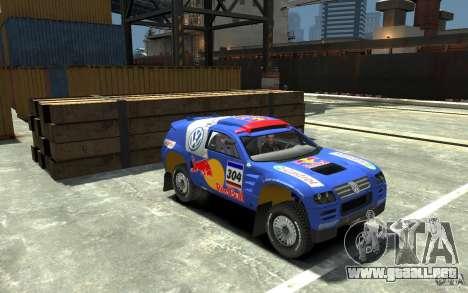 Volkswagen Touareg Rally para GTA 4 vista hacia atrás