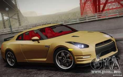 Nissan GTR Egoist para vista lateral GTA San Andreas