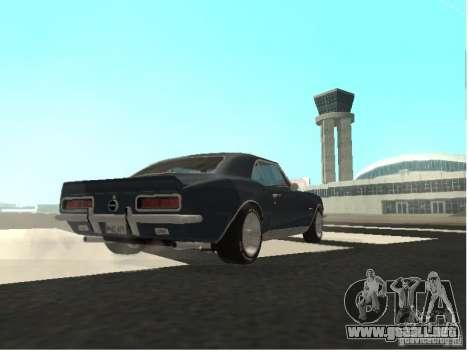 Chevrolet Camaro SS 396 Turbo-Jet para GTA San Andreas vista hacia atrás