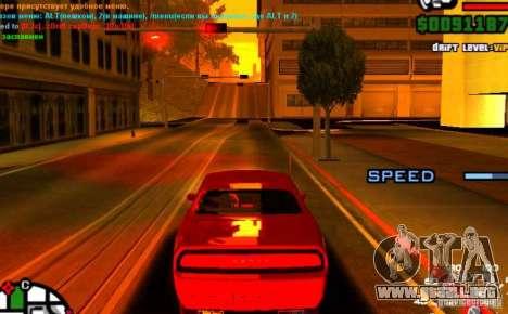 Piloto automático para automóviles para GTA San Andreas tercera pantalla