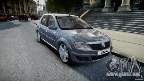 Renault Logan para GTA 4 vista hacia atrás