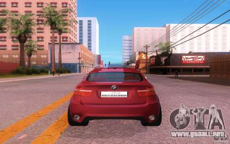 BMW X6 Tuning para GTA San Andreas vista hacia atrás