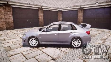 Subaru Impreza WRX 2011 para GTA 4 left