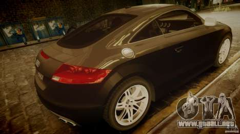 Audi TTS Coupe 2009 para GTA 4 Vista posterior izquierda