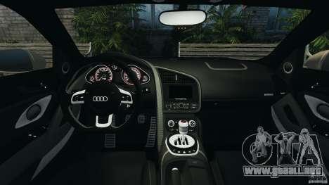 Audi R8 V10 2010 para GTA 4 vista hacia atrás