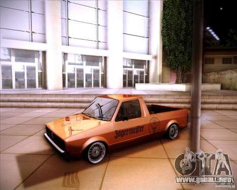Volkswagen Caddy Custom 1980 para GTA San Andreas vista hacia atrás