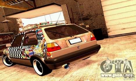 Volkswagen MK II GTI Rat Style Edition para la visión correcta GTA San Andreas