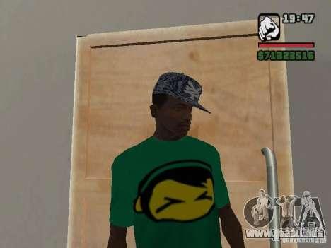 Gorra Zoo York para GTA San Andreas segunda pantalla