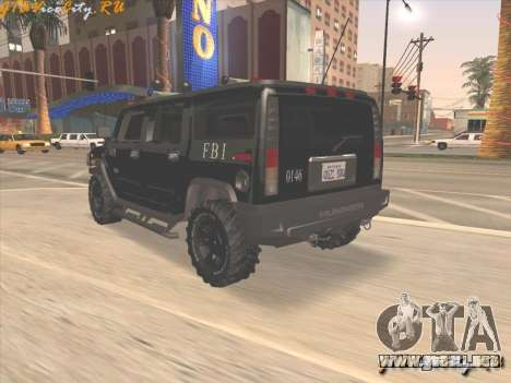 FBI Hummer H2 para GTA San Andreas left