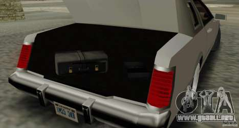 Virgo Continental para vista lateral GTA San Andreas