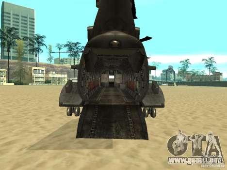 Helicóptero Leviathan para GTA San Andreas vista posterior izquierda