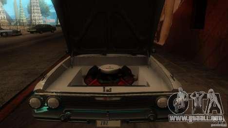 Chevy Impala SS 1961 para visión interna GTA San Andreas