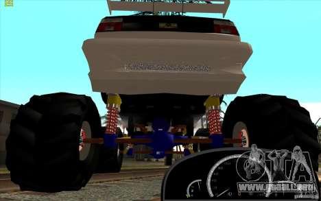Jetta Monster Truck para GTA San Andreas vista posterior izquierda