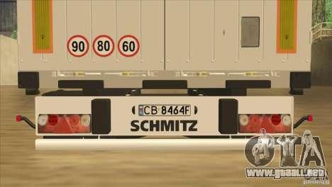 SchmitZ Cargobull para vista lateral GTA San Andreas