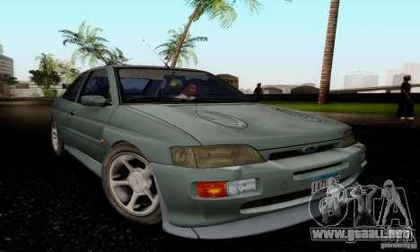 Ford Escort RS Cosworth para la visión correcta GTA San Andreas