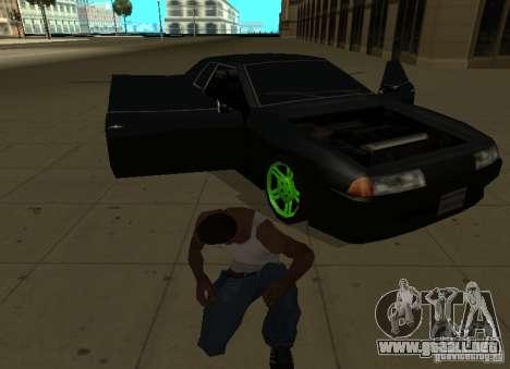Elegy Green Drift para GTA San Andreas vista hacia atrás