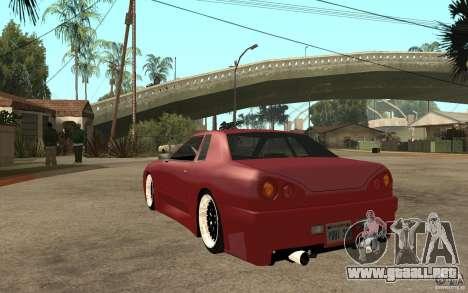 Elegy Modified para GTA San Andreas vista posterior izquierda