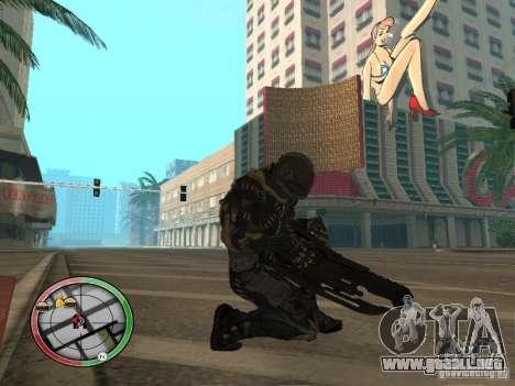 Armas exóticas de Crysis 2 para GTA San Andreas sucesivamente de pantalla