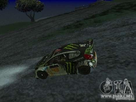 Ford Fiesta Ken Block WRC para la visión correcta GTA San Andreas