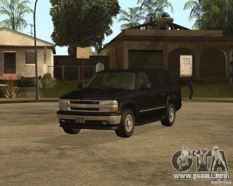 Chevrolet Suburban FBI para GTA San Andreas