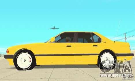 BMW 750I E32 para GTA San Andreas vista posterior izquierda