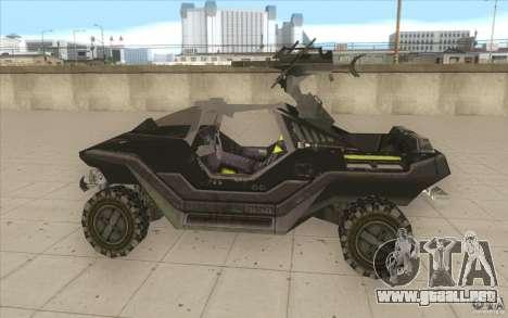 Halo Warthog para GTA San Andreas left