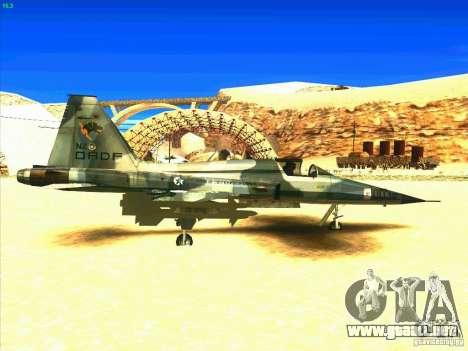 F-5E Tiger para la visión correcta GTA San Andreas