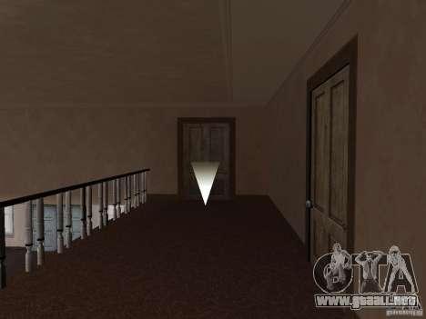 Apartamento secreto para GTA San Andreas sucesivamente de pantalla