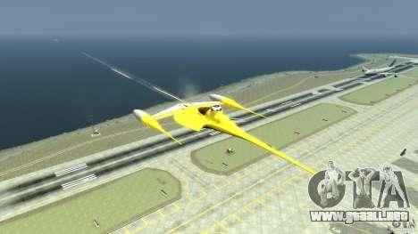 Naboofighter para GTA 4 vista hacia atrás