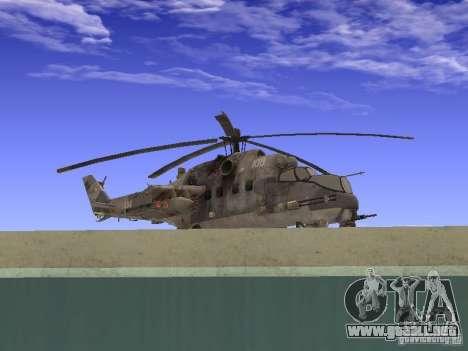 Mi-24 de COD MW 2 para GTA San Andreas vista posterior izquierda