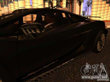 Lamborghini Gallardo Underground Racing para vista inferior GTA San Andreas
