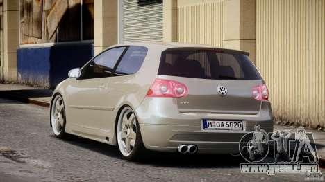 Volkswagen Golf GTI 2006 v1.0 para GTA 4 Vista posterior izquierda