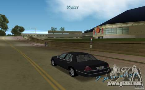 Ford Crown Victoria para GTA Vice City visión correcta