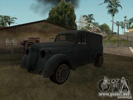 El vehículo de la segunda guerra mundial para GTA San Andreas
