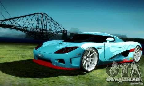 Koenigsegg CCX para vista lateral GTA San Andreas