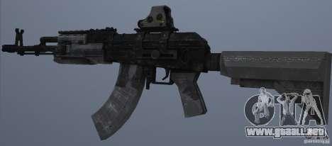 AK47+Holographic sight para GTA San Andreas segunda pantalla