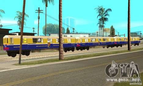 Liberty City Train Italian para GTA San Andreas left