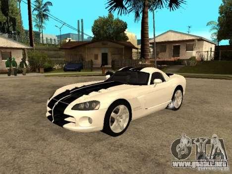Dodge Viper Coupe 2008 para vista inferior GTA San Andreas