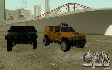 Hummer H3R para la vista superior GTA San Andreas