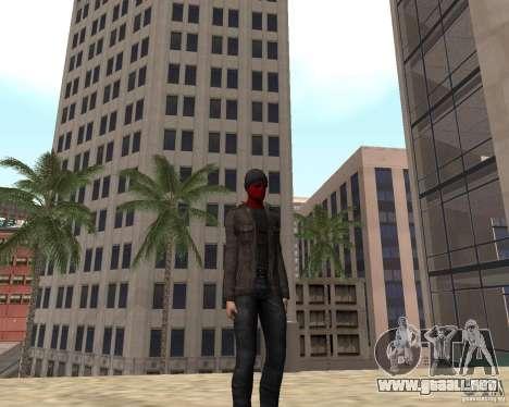 Spider Man para GTA San Andreas sucesivamente de pantalla